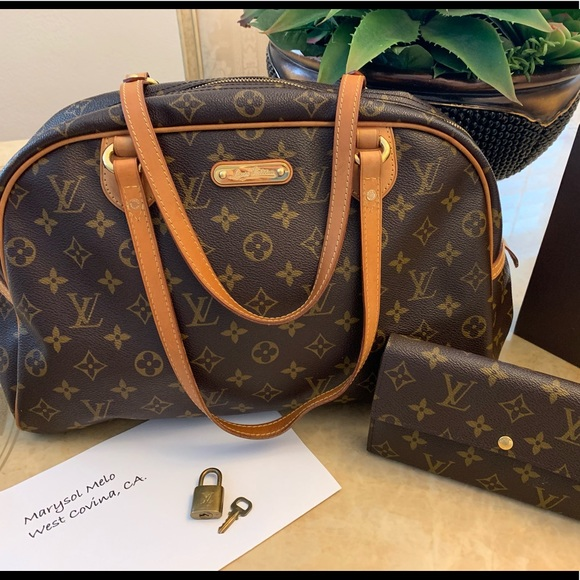 Louis Vuitton Handbags - Louis Vuitton Monty and Wallet set.